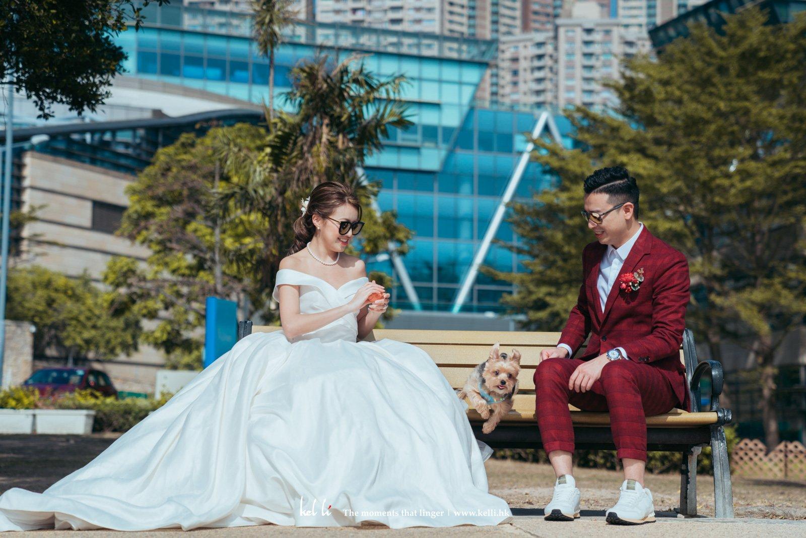 毛孩最近在婚禮攝影上,參與度很高