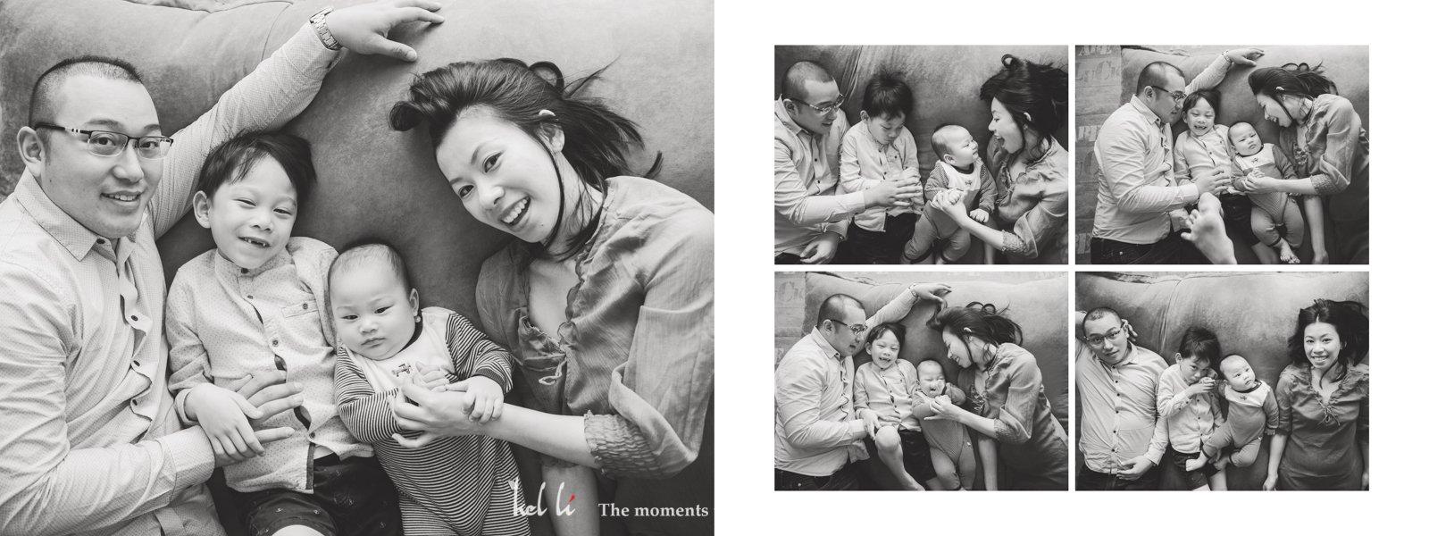 黑白家庭照