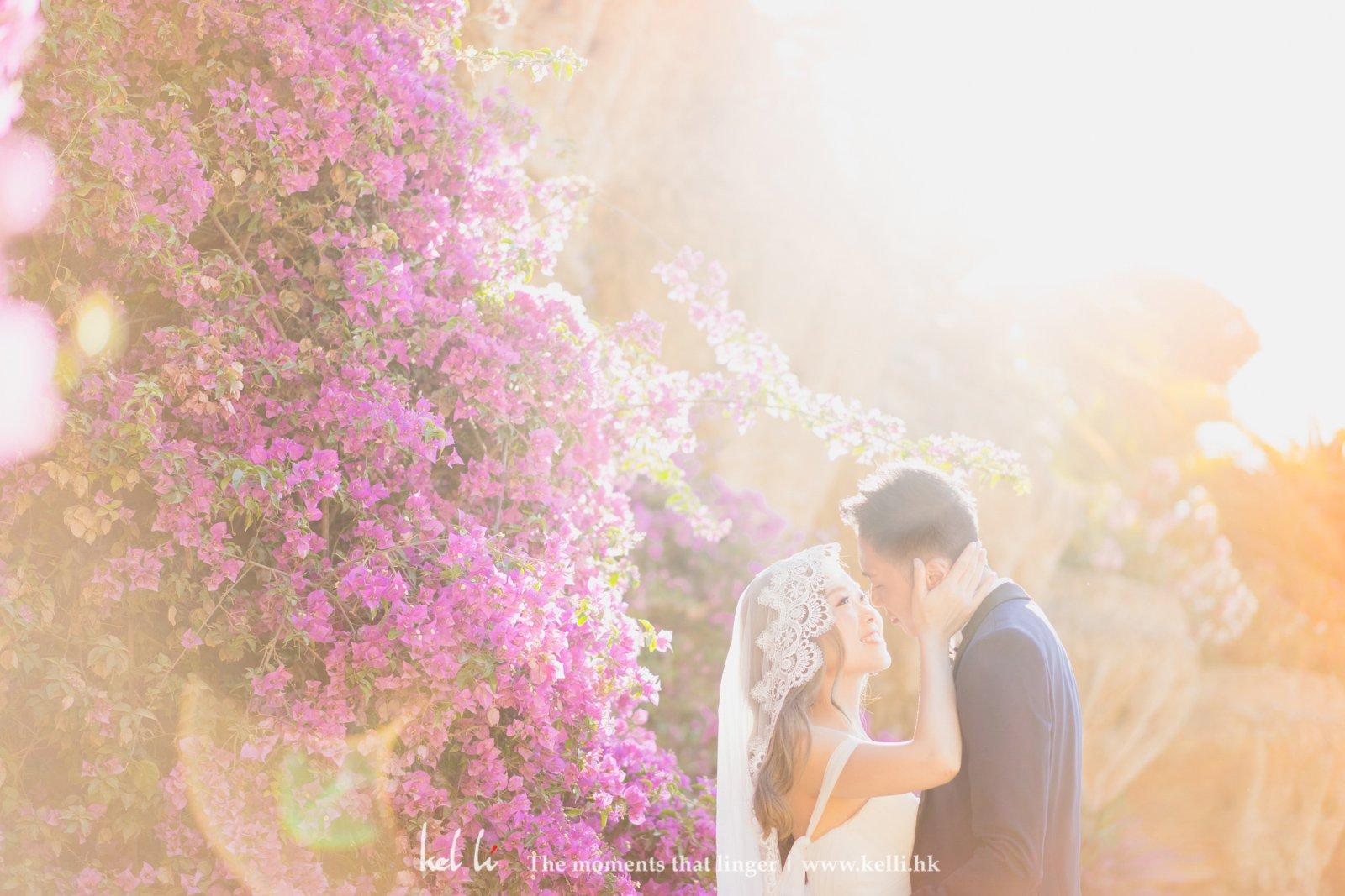 沒有宏偉的建築,但卻是一張美麗而富有情感的婚紗照
