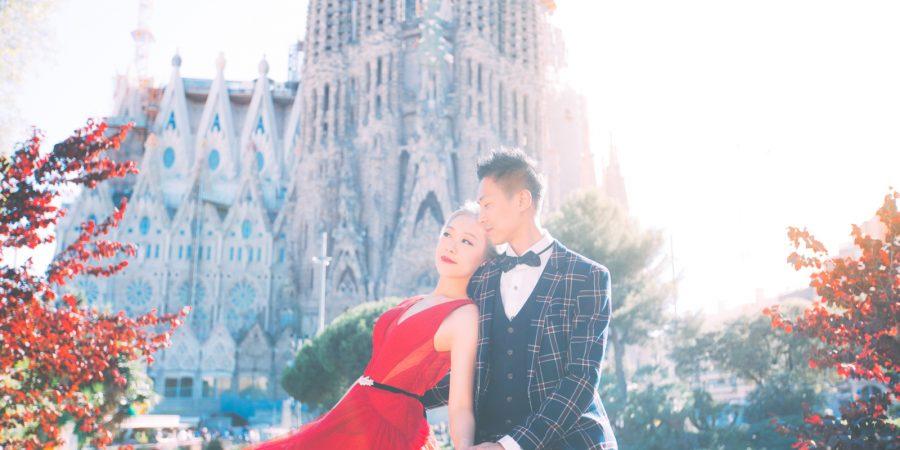 聖家堂(La Sagrada Familia)絕對也是巴賽地標,加上斜陽,是溫暖,是浪漫