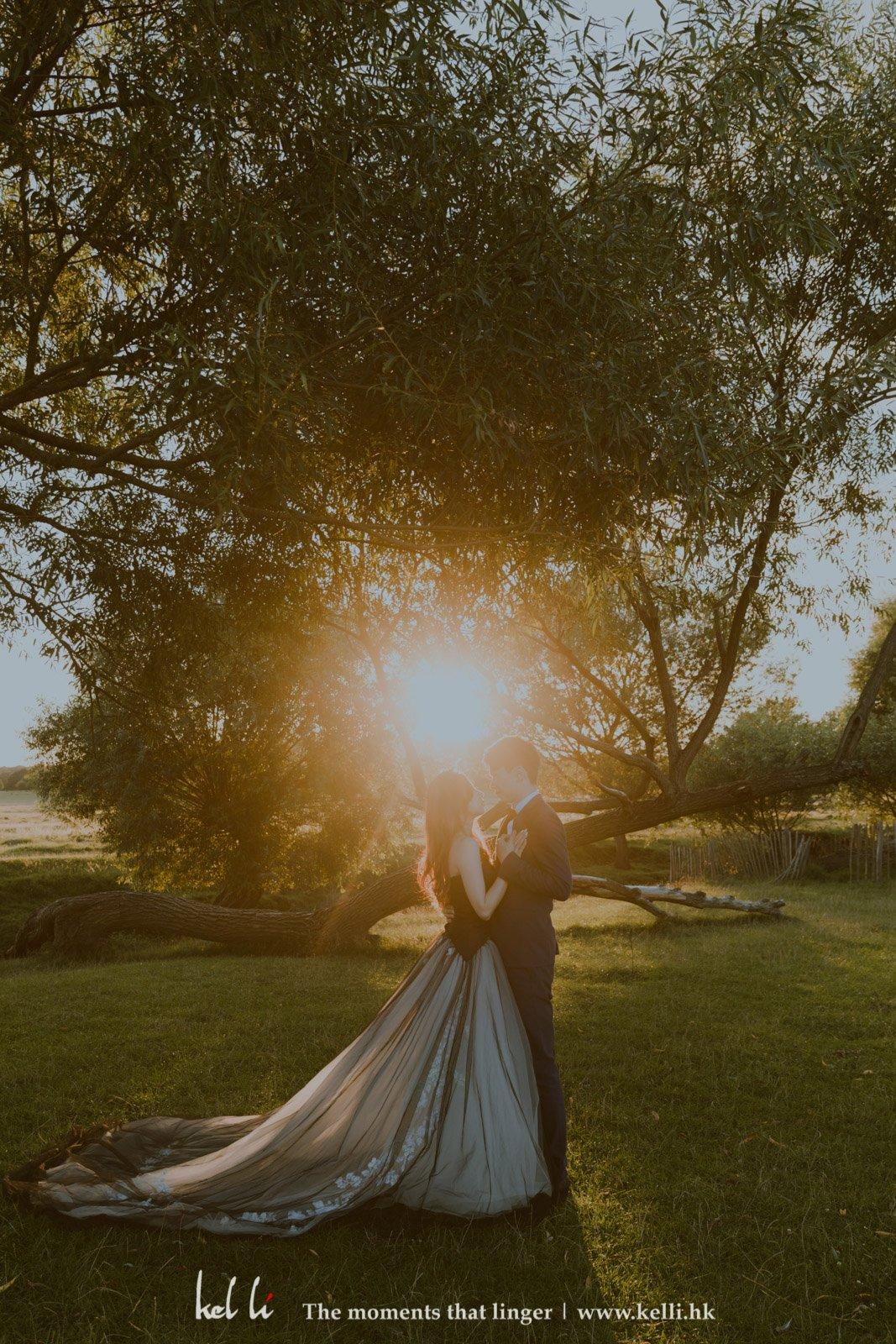 日落的英倫森林