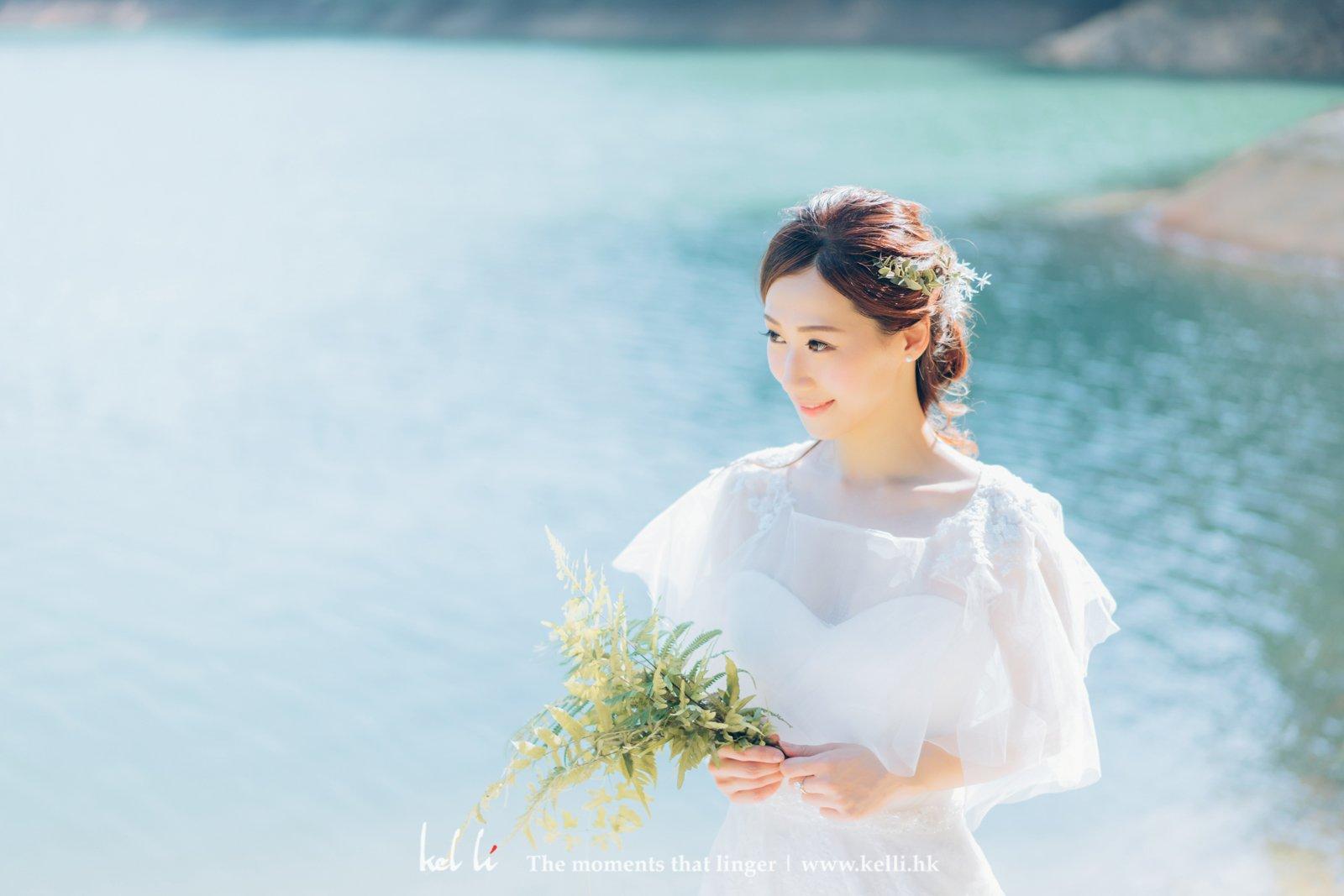 清新的婚紗照