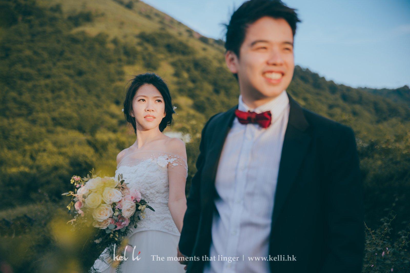 一天裡最美的時候就是日落,在這段時間拍出的婚紗照很和暖、很有溫度。
