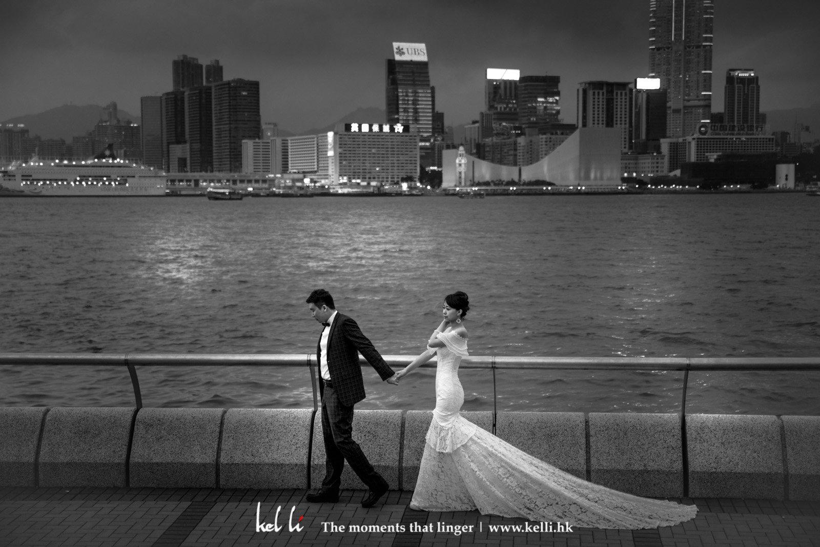 香港璀璨的維花夜景