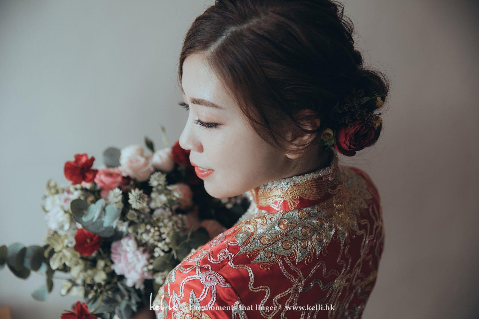 具有高貴氣質的中式新娘