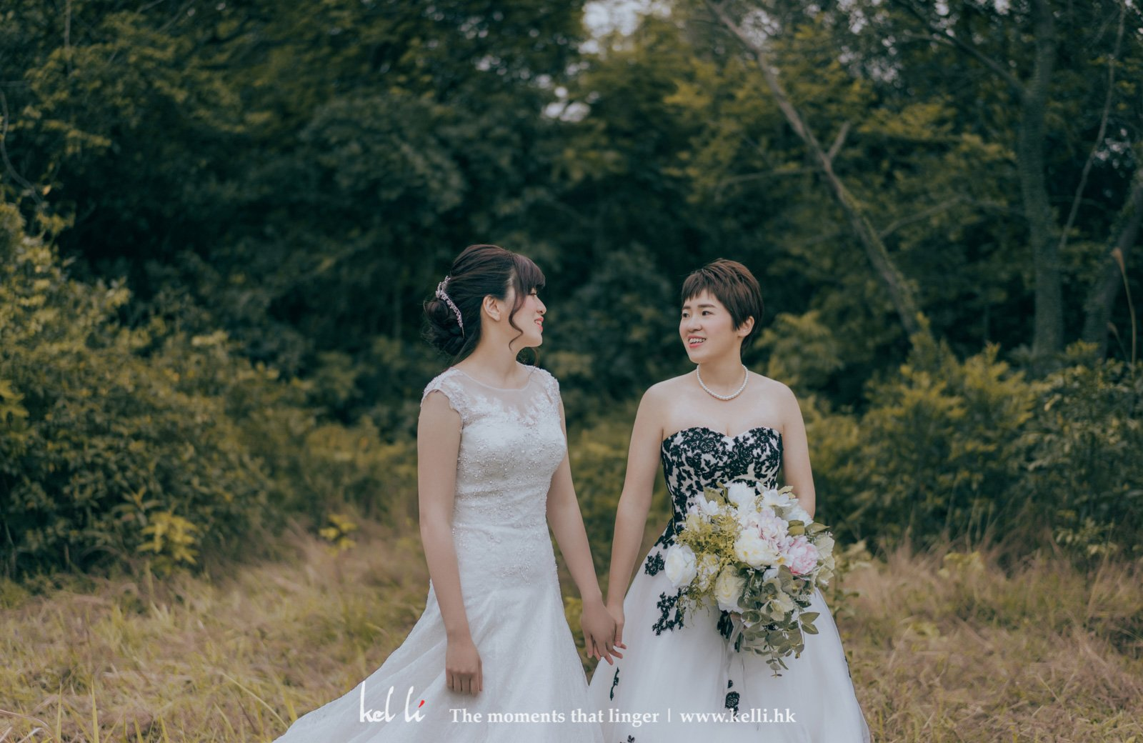 女女同志婚紗照