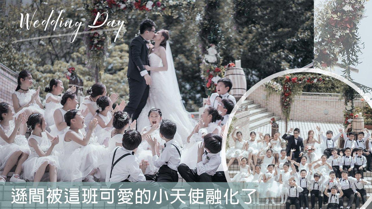 Angels' blessing | Church wedding photography 教堂婚紗攝影