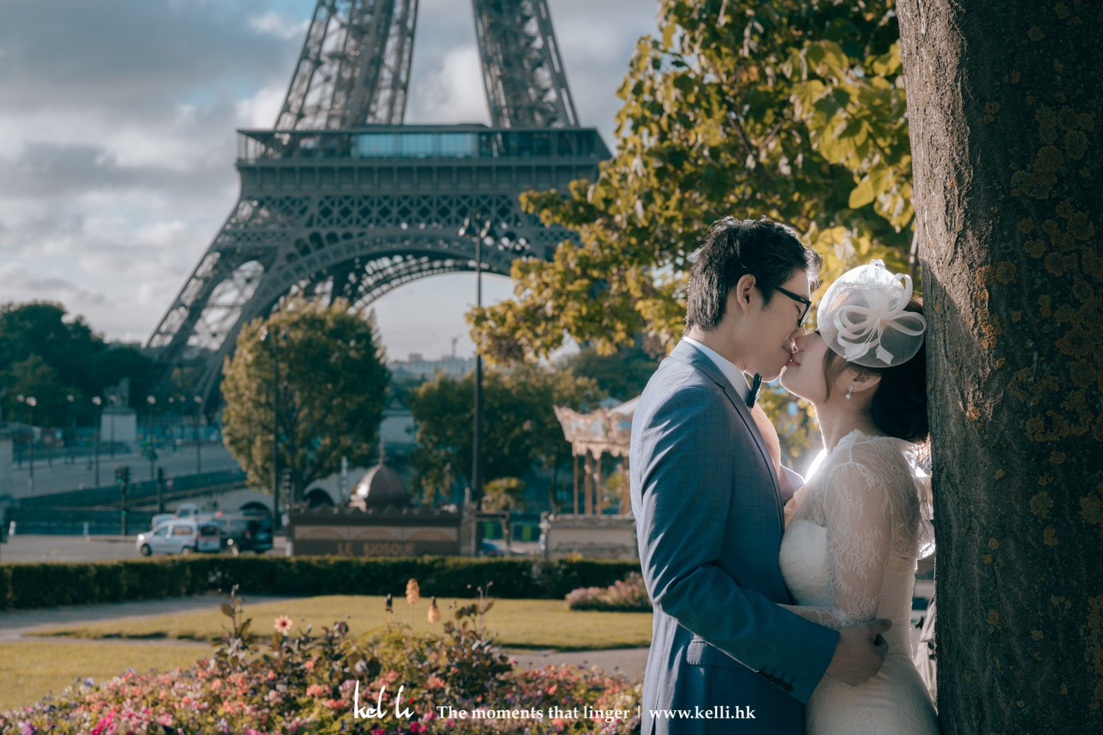 新人已沈醉於巴黎鐵塔下 Prewedding under the Paris Effel Tower