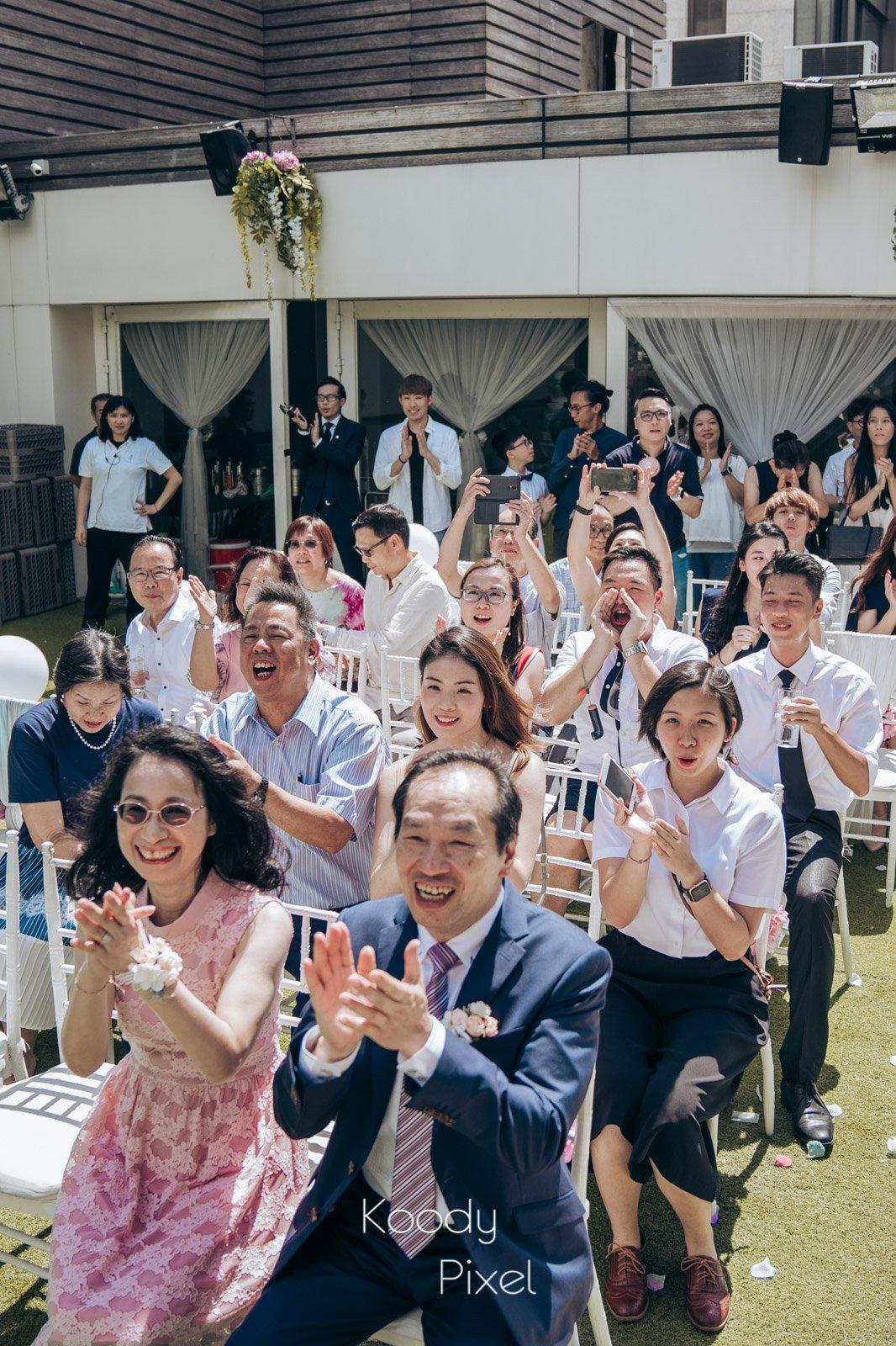 父母在子女婚禮當天的興奮心情,絕不亞於新人