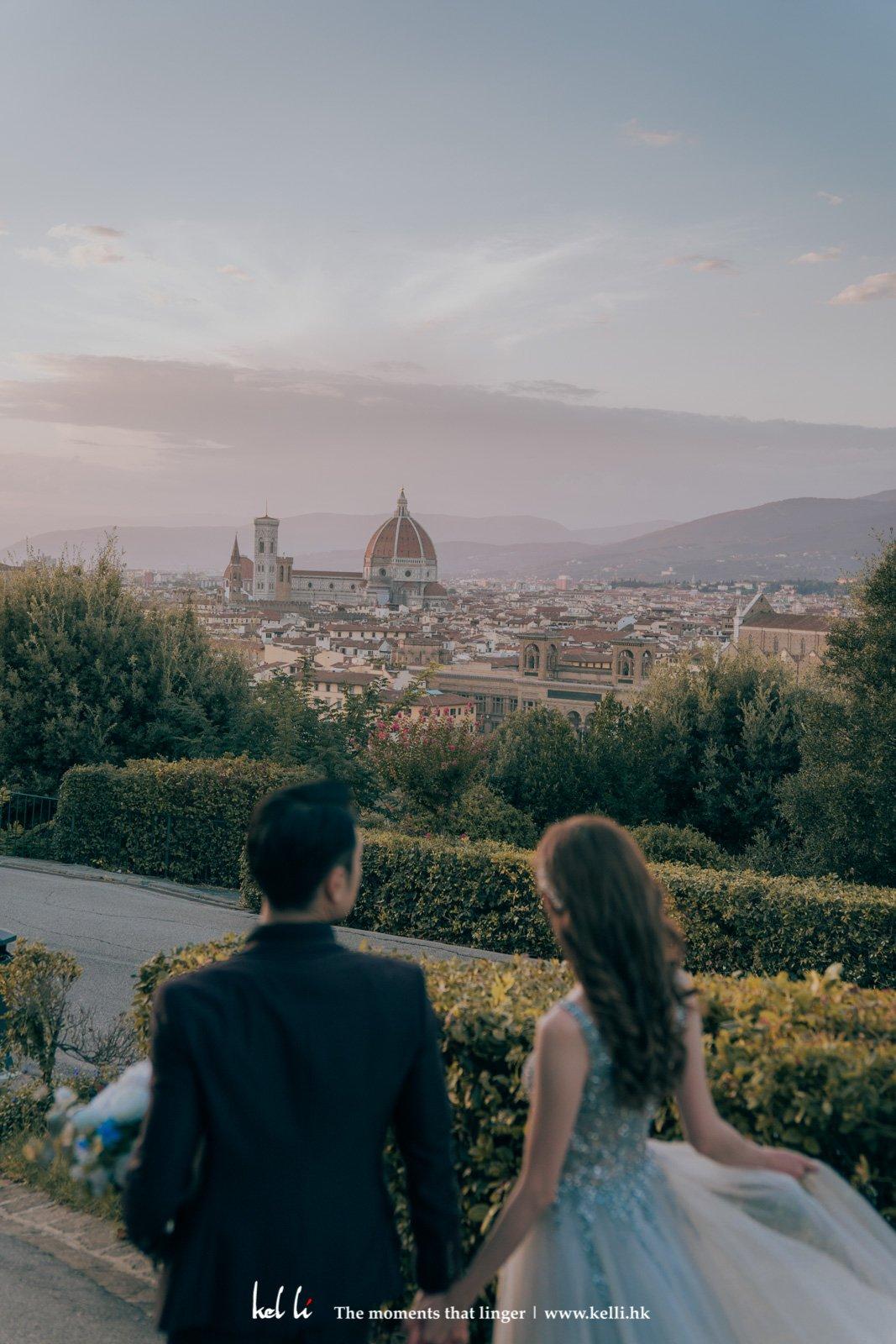Florence的全景散發著醉人的浪漫