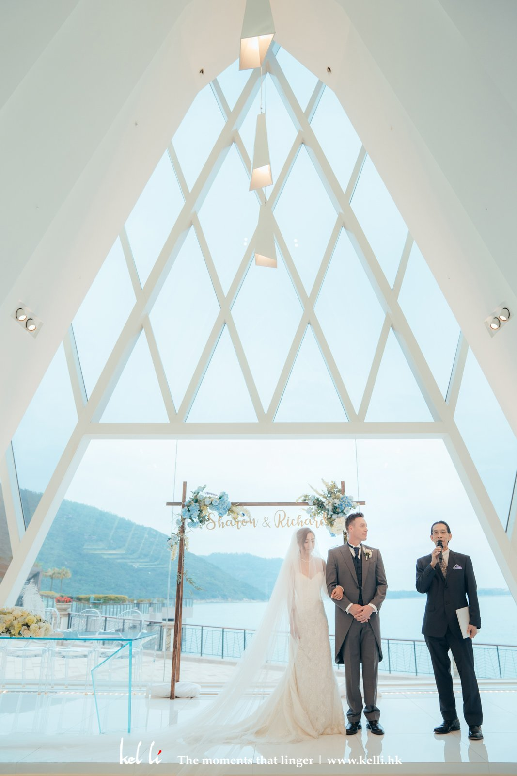 海濱白教堂的證婚議式 | HK White Chapel Wedding Ceremony
