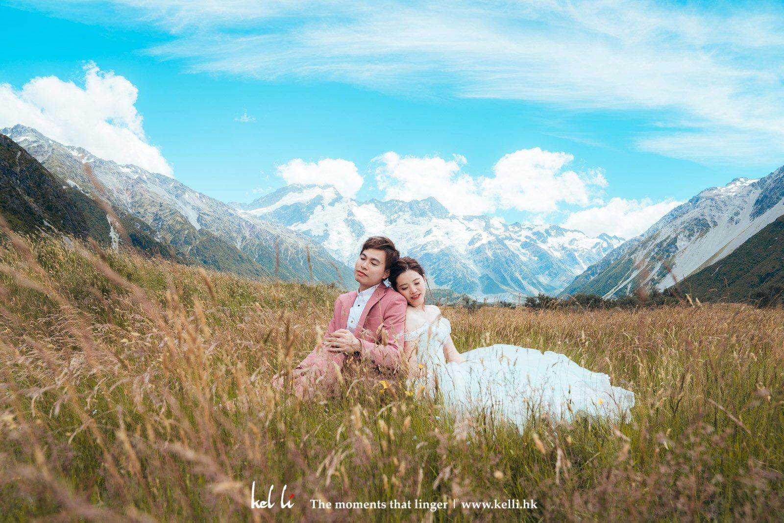 紐西蘭絕美景色確實是Prewedding的一個好選擇