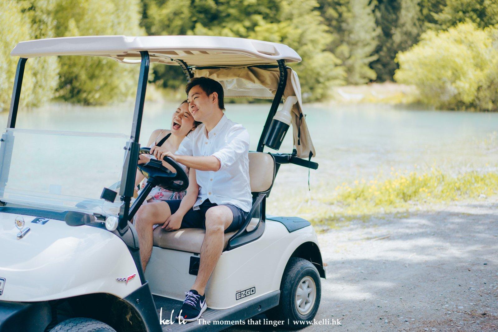 本來想去借單車拍攝,後來卻借來了高爾高爾夫球車