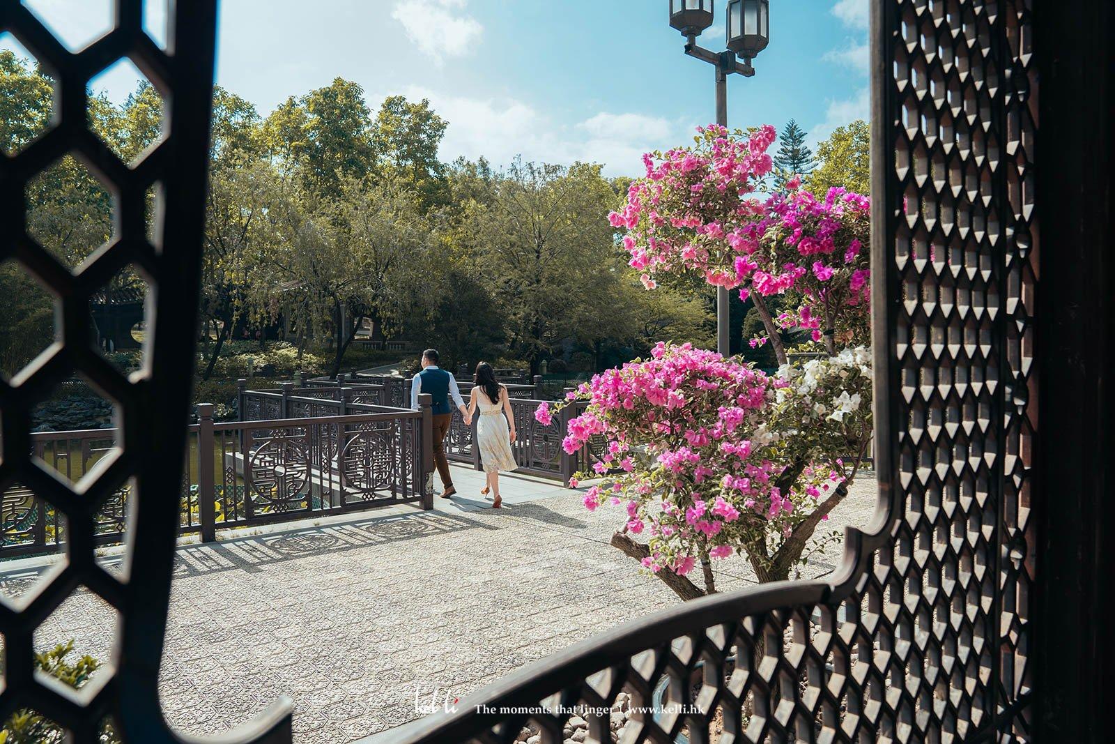 充滿中式感覺的荔枝角公園