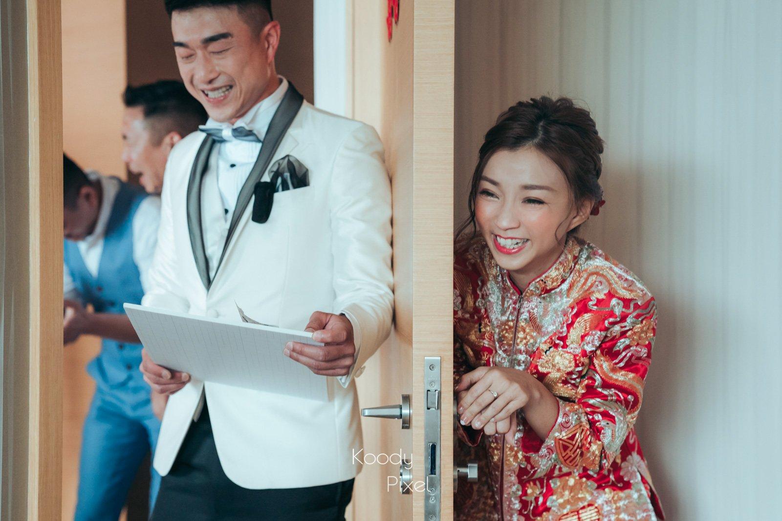 男主角獨自準備的愛的宣言,笑爆婚禮現場?