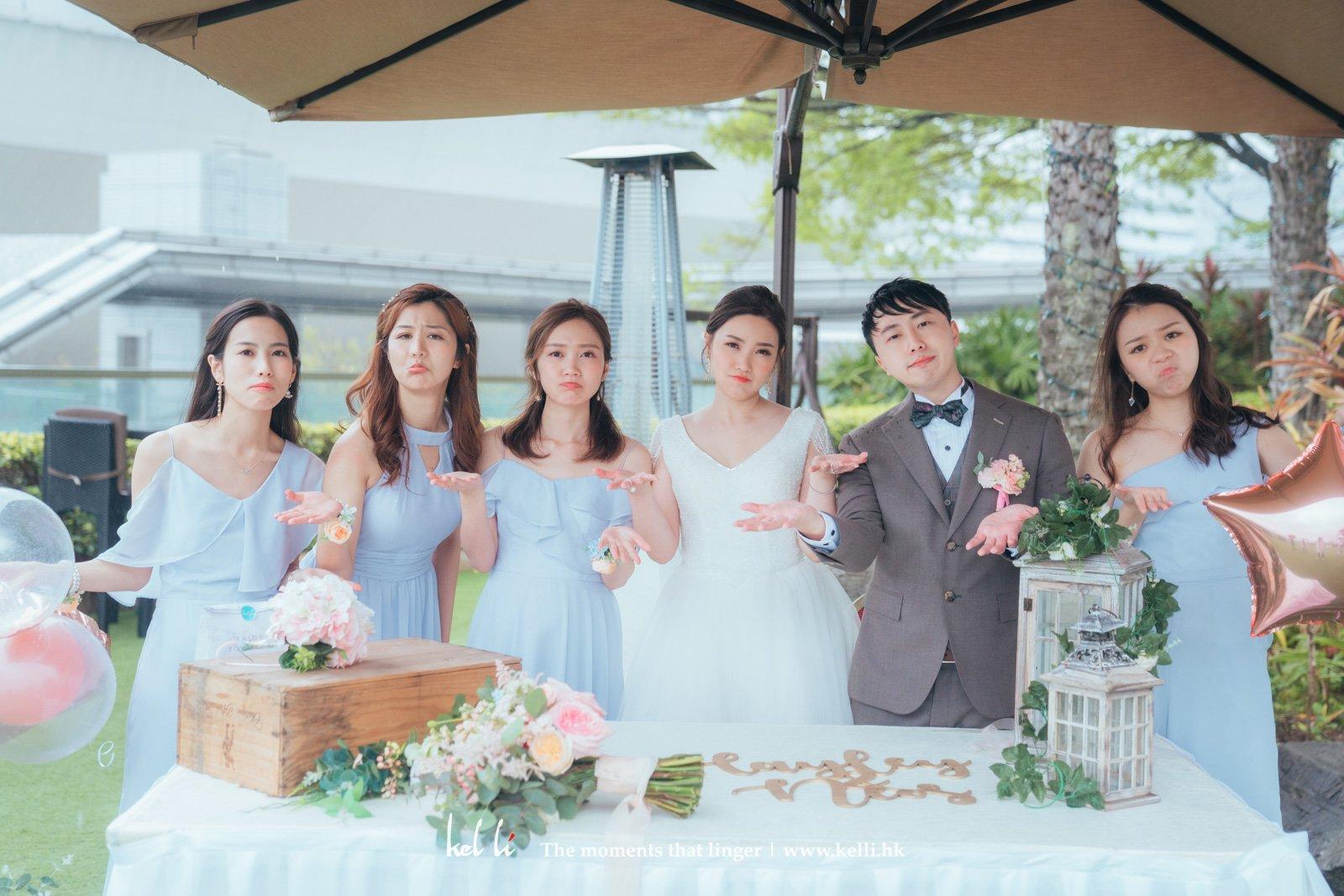 雨天婚禮,既無奈又可愛